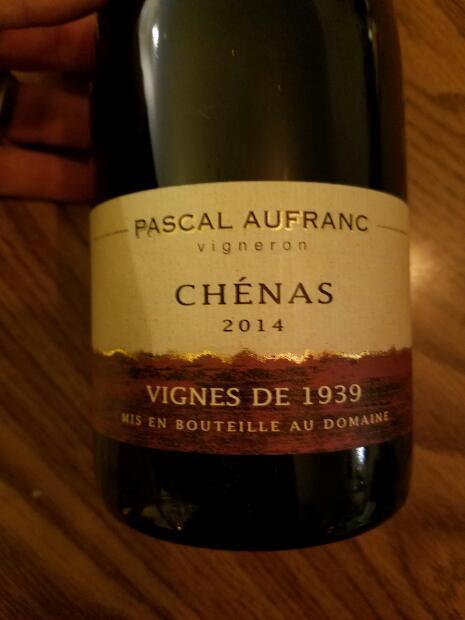 Pascal Aufranc Chenas Vigne de 1939